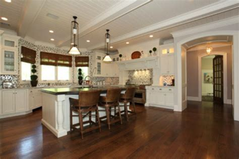 Kitchen Island With Bar Stools  Hooked On Houses