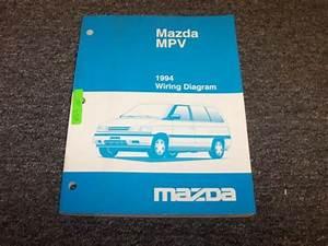 1994 Mazda Mpv Van Original Electrical Wiring Diagram