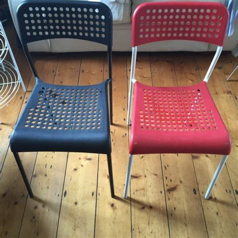 2 ikea adde chairs bleckred for sale in glasnevin dublin