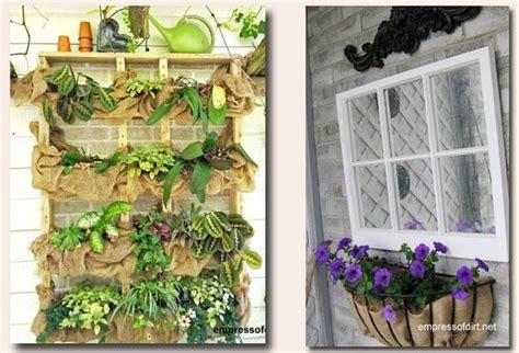 ways   burlap   garden craft decor ideas