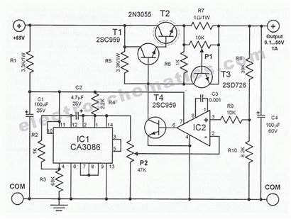 Supply Power Circuit Schematic Variable Adjustable 50v