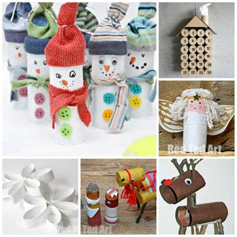toilet paper roll christmas crafts red ted arts blog