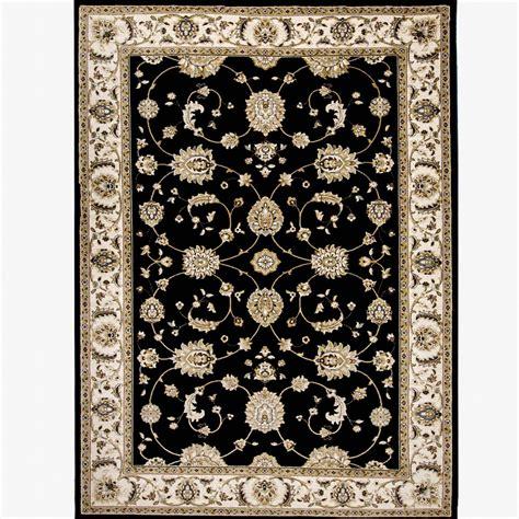 black and ivory area rugs home dynamix bazaar floral heirloom black ivory 7 ft 10 7836