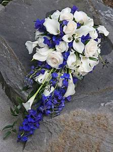 Blue and White Wedding Bouquets - BB0551-Horizon Blue and ...