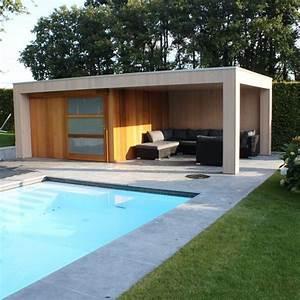 salon de jardin et terrasse au bord de la piscine 5 With idee amenagement exterieur maison 5 gazebo et abri soleil des idees pour jardin avec piscine
