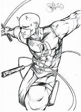 Daredevil Coloring Fan Printable Without Boob Getcolorings Popular Sketch Results Template Coloringhome sketch template