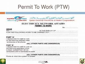 gtc546 hse ppt With working at height permit to work template