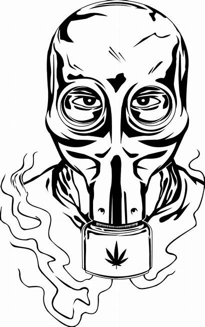 Mask Gas Weed Bong Clipart Drawing Poison