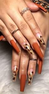 22 trendy fall nail design ideas autumn leaves