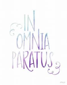 """""""In Omnia Paratus"""" by sferyn Redbubble"""