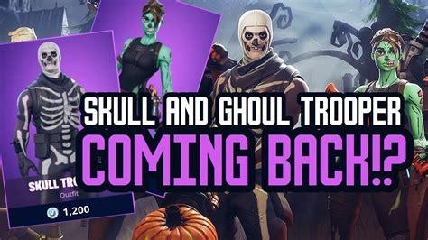 skull  ghoul trooper coming  halloween skins