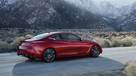 2020 Infiniti Q60 Red Sport 400 AWD two-door coupe.