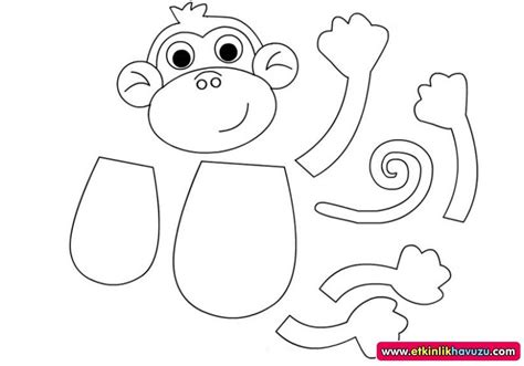 monkey template crafts actvities and worksheets for preschool toddler and kindergarten