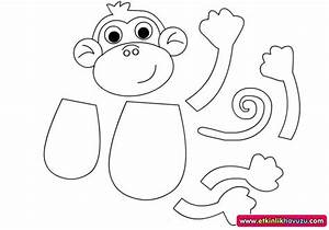 craftsactvities and worksheets for preschooltoddler and With monkey body template