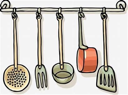 Clipart Utensils Kitchen Transparent Line Webstockreview Grey