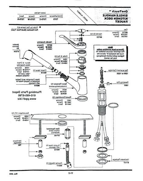Moen Single Handle Kitchen Faucet Repair Diagram by Moen Single Handle Pullout Kitchen Faucet Repair Diagram