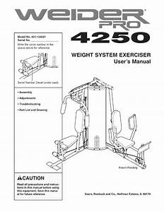 Weider Home Gym 831 154021 User Guide