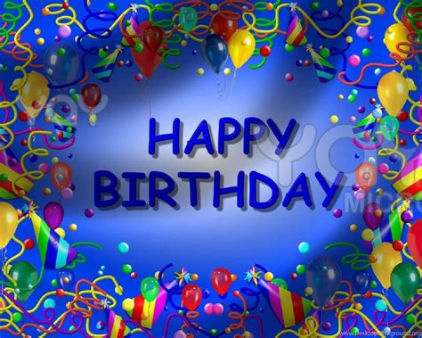 Free Happy Birthday Picture by Happy Birthday Backgrounds Blue Theme Template Free