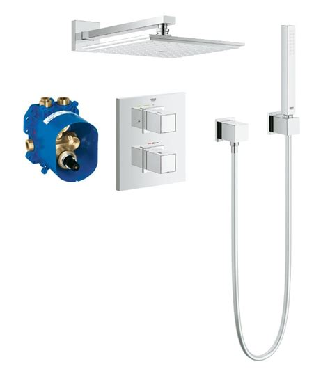 Concealed Valve Shower grohe grohtherm cube thermostatic concealed shower bundle