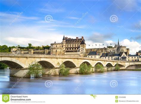 Amboise, Village, Bridge And Medieval Castle. Loire Valley