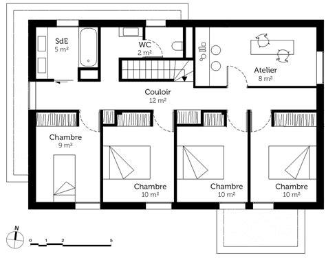 plan maison 4 chambres etage plan maison gratuit etage 5 chambres