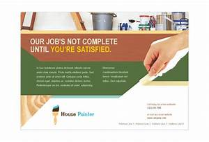 painter painting contractor print template pack from With painting flyers templates free