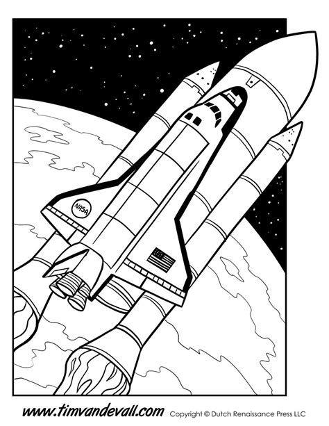 Space Shuttle Kleurplaat by Space Shuttle Coloring Page Tim S Printables