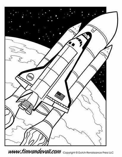 Shuttle Space Coloring Printables Printable Science Facts