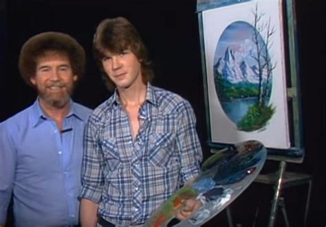 Bob Ross With His Son Steven On The Joy Of Painting Season