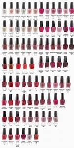 OPI Nail Polish (Most Popular Colors Chart) | OPI ...