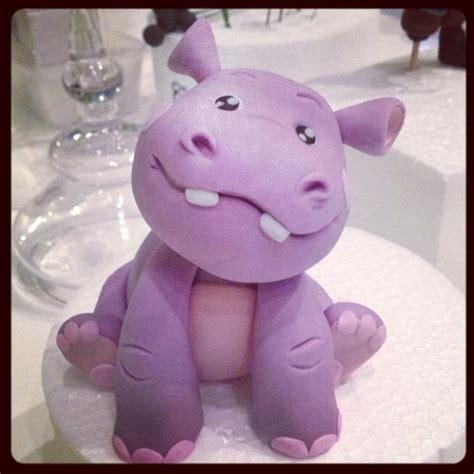 hippopotamus porcelana fria polymer clay fimo modelado figurine topper pasta francesa masa
