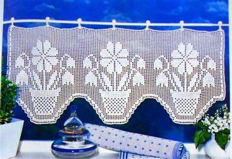 patrones de cortinas de ganchillo  cocina