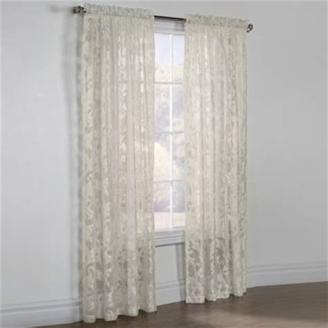 jcpenney sheer curtain rods jacqueline boucle sheer rod pocket curtain panel jcpenney