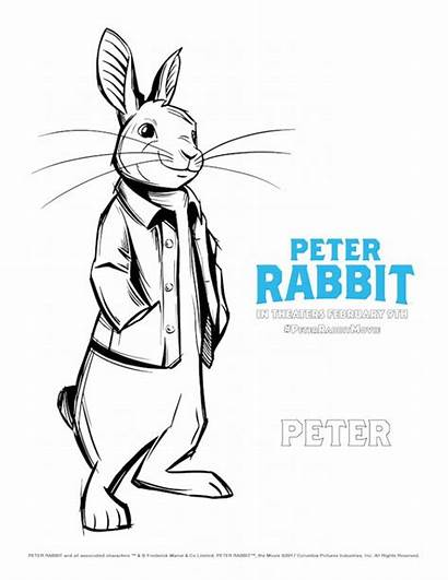 Rabbit Peter Coloring Pages Easter Cartoon February