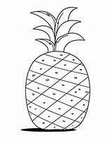 Pineapple Coloring Drawing Fruits Pages Print Learn Drawings Printable Word Colornimbus Crafts Summer Colors Getcoloringpages Preschool Paintingvalley sketch template