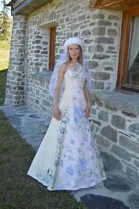 robe en soie sauvage creation vera broissiat broderie en With robe soie sauvage