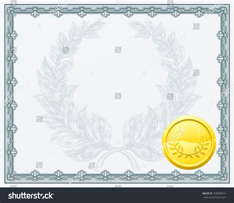 qualification award certificate background template laurel