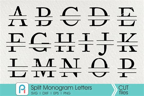 split letter monogram svg letter monogram svg  fontsy