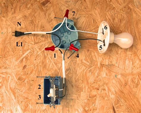 single pole switch wiring methods light fed s1 and