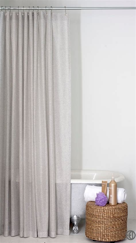 light grey shower curtain in standard and sizes