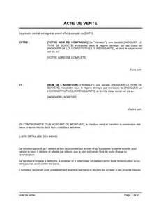 Vente Meuble Occasion Entre Particulier by Acte De Vente Template Sle Form Biztree Com