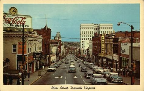 main street danville va postcard