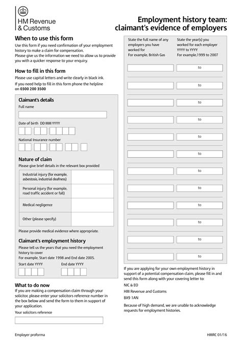 9 employment history form exles pdf doc exles