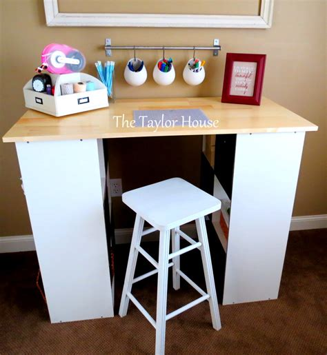 craft room table ideas diy inexpensive craft table with storage the house