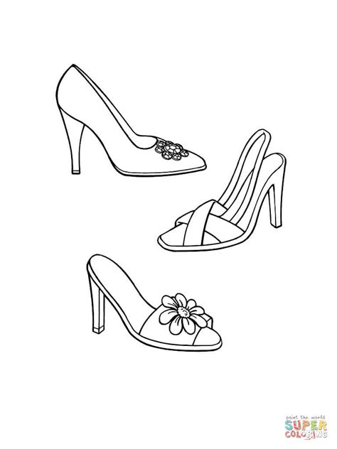 coloring pages shoes printable coloring home