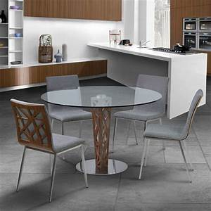 Crystal 48quot Clear Tempered Glass Top Round Dining Room Set