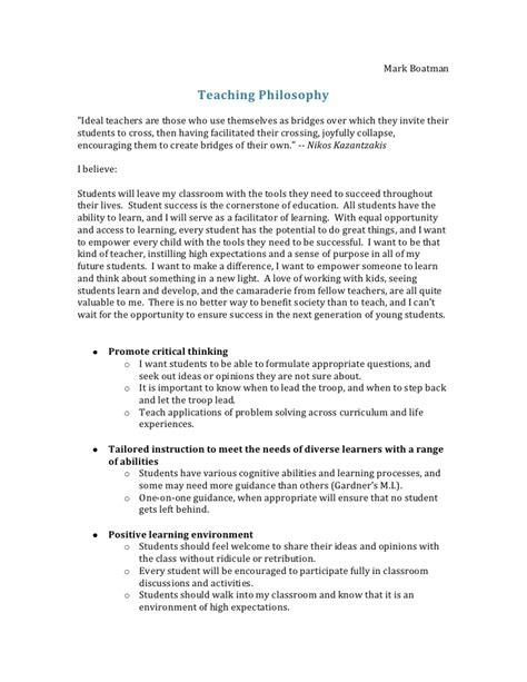 teaching philosophy template teaching philosophy outline