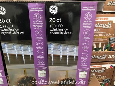 Costco Icicle Lights by Ge Led Twinkling Icicle Lights Costco Weekender