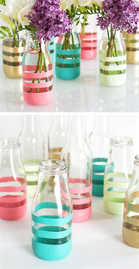 vasen selber machen diy deko aus glasflaschen 20 inspirierende beispiele und diy projekte