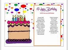 January Birthdays at AHCS Appling HealthCare